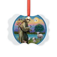 St Francis / Poodle (parti) Ornament