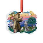 St.Fran #2/ Poodle (Std S) Picture Ornament