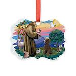 St.Francis #2 / Poodle (ST-Ch Picture Ornament