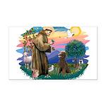 St.Francis #2 / Poodle (ST-Ch Rectangle Car Magnet