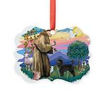 St.Francis #2/ PWD (ret cut) Picture Ornament