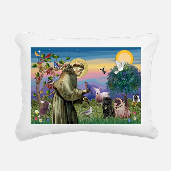 Unique Fawn pug Rectangular Canvas Pillow