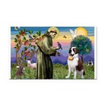 St. Francis/ St. Bernard Rectangle Car Magnet