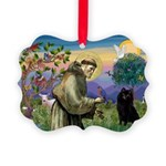 St Francis / Schipperke Picture Ornament