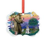 St.Francis #2/ Schnauzer #2 Picture Ornament