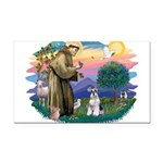 St.Francis #2/ Schnauzer #2 Rectangle Car Magnet