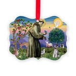 St.Francis / Mini. Schnauzer Picture Ornament