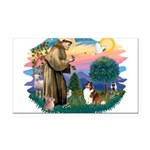 St.Francis #2/ Sheltie (sw) Rectangle Car Magnet