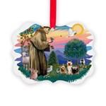 St.Francis #2/ Silkies (2) Picture Ornament