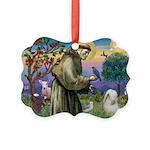 St. Fran #2 / Tibetan Terrier Picture Ornament