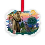 St.Francis #2/ Weimaraner #1 Picture Ornament