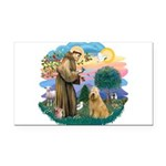 St Francis #2/ Wheaten #2 Rectangle Car Magnet