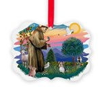 St.Francis #2 / Yorkie (Brewe Picture Ornament