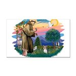 St.Francis #2 / Yorkie (Brewe Rectangle Car Magnet