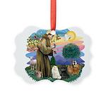 St. Fran (ff) - 3 Persian Cat Picture Ornament