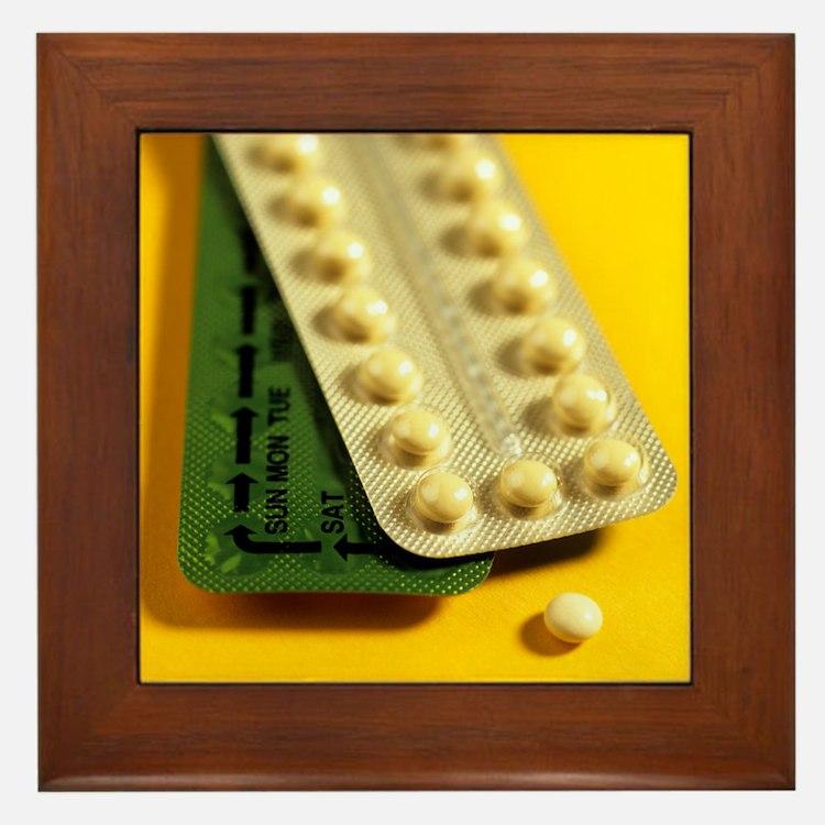 Oral contraception - Framed Tile