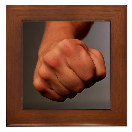 Clenched fist - Framed Tile