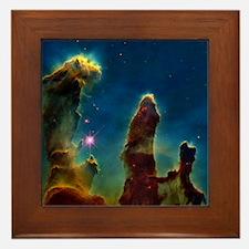 Gas pillars in the Eagle Nebula - Framed Tile
