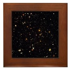 Hubble Ultra Deep Field galaxies - Framed Tile
