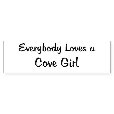 Cove Girl Bumper Sticker