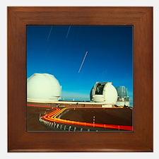 Keck I and II observatories on Mauna Kea, Hawaii -