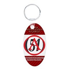 Area 51 A-Level Authorization Pass Keychains