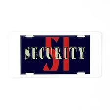 Area 51 Security Aluminum License Plate