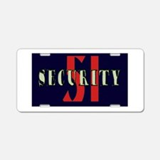 Area 51 Security Aluminum License Plate