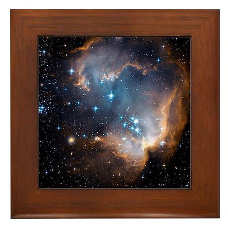Starbirth region NGC 602 - Framed Tile