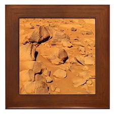 Toltecs, volcanic rocks, Mars - Framed Tile