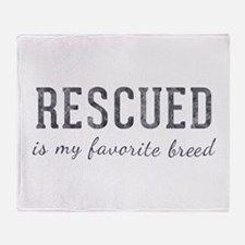 Rescued is Throw Blanket