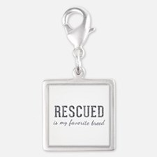 Rescued is Silver Square Charm