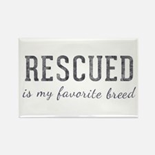 Rescued is Rectangle Magnet (100 pack)