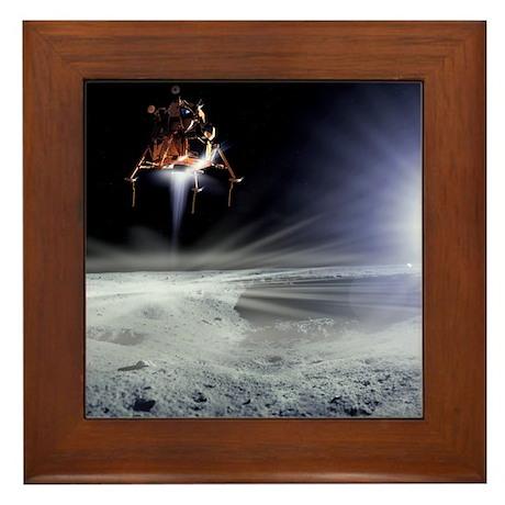 Apollo 11 Moon landing, computer artwork - Framed