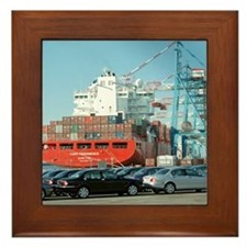 Container ship - Framed Tile