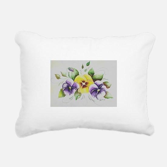 PANSIES Rectangular Canvas Pillow
