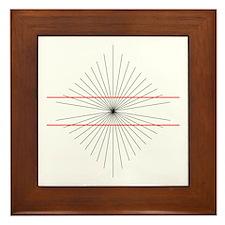 Hering illusion - Framed Tile