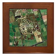 Menwith Hill spy base, aerial image - Framed Tile