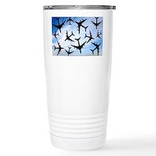 Air traffic, conceptual image - Thermos Mug