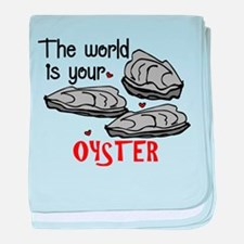Your Oyster baby blanket