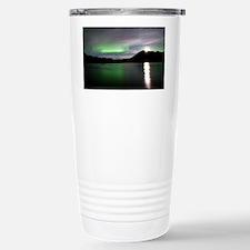 Aurora borealis and Moon - Travel Mug