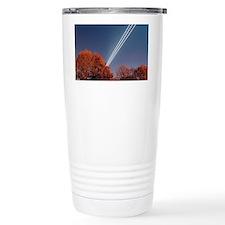 Aeroplane light trails - Travel Mug