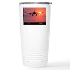 Aeroplane landing at sunset, Canada - Thermos Mug