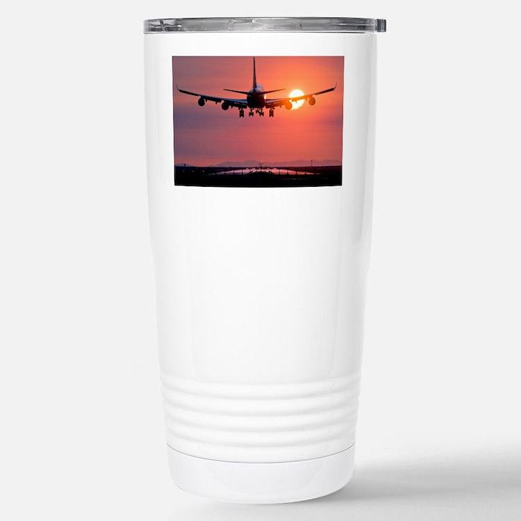 Aeroplane landing at sunset, Canada - Travel Mug