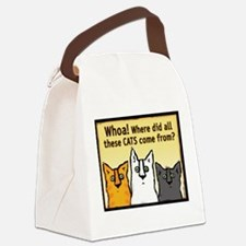 Cute Cat lovers Canvas Lunch Bag