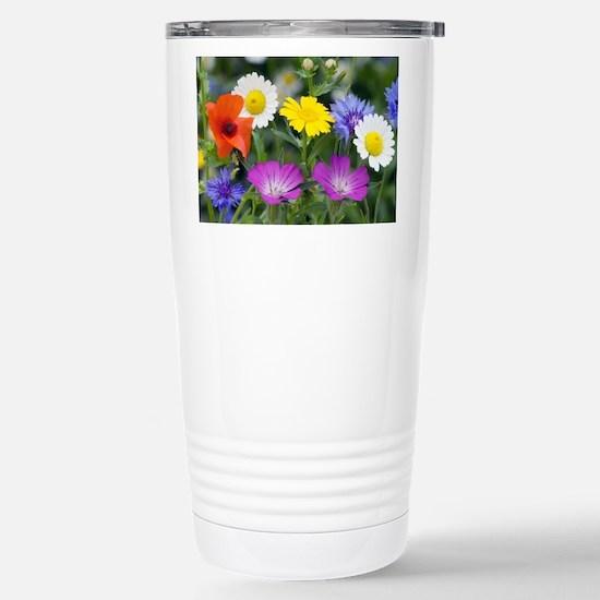 Cornfield weed flowers - Stainless Steel Travel Mu