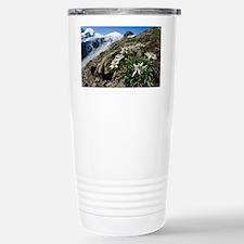 Edelweiss and glacier - Travel Mug