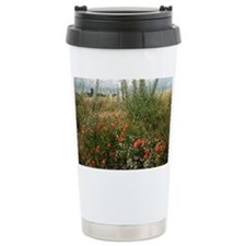 Edge of field with wildflowers - Travel Mug
