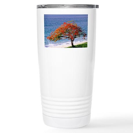 Flamboyant tree - Stainless Steel Travel Mug