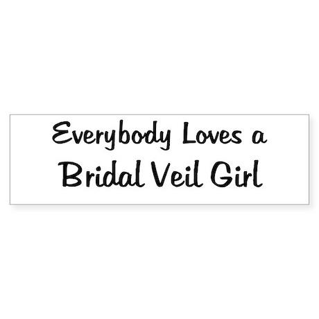 Bridal Veil Girl Bumper Sticker